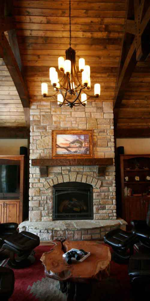 Custom Mantle and Fireplace